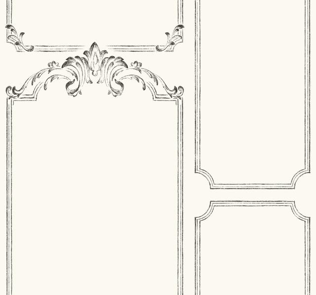 Magnolia Home French Panel Removable Wallpaper white/black