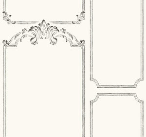 removable wallpaper French panels trim gallery walls