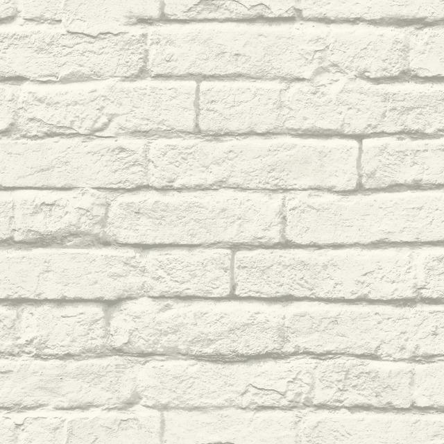 greyscale removable wallpaper bricks wall industrial loft