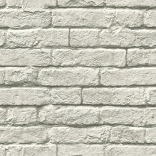 Load image into Gallery viewer, greyscale removable wallpaper bricks wall industrial loft