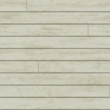 Load image into Gallery viewer, removable wallpaper country boards woodgrain tongue and groove grey