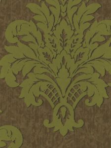 MN80704. Brown faux bg. W/ green madallion