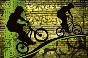 Bicycle Green Wall Mural