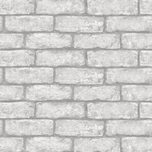 Load image into Gallery viewer, Cambridge Brick Grey Peel & Stick Wallpaper
