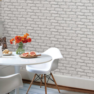 Cambridge Brick Grey Peel & Stick Wallpaper
