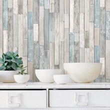 Load image into Gallery viewer, Weathered Plank Shore Peel & Stick Wallpaper