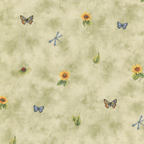 wallpaper, wallpapers, floral, flowers, leaves, bugs, butterflies, dragon fly