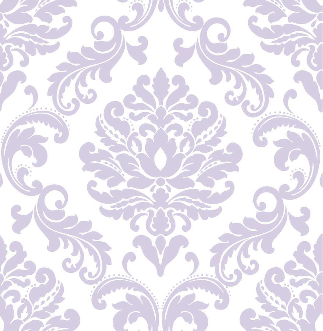 Purple Ariel Peel & Stick Wallpaper