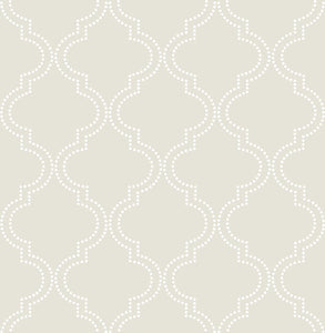 Taupe Quatrefoil Peel & Stick Wallpaper