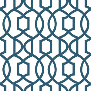 Navy Grand Trellis Peel & Stick Wallpaper