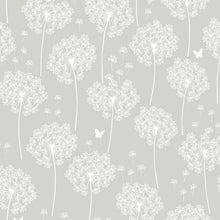 Load image into Gallery viewer, Dandelion Grey Peel & Stick Wallpaper