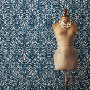 Bohemian Damask Indigo Peel & Stick Wallpaper