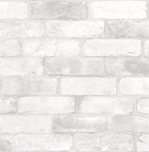Load image into Gallery viewer, Loft White Brick Peel & Stick Wallpaper