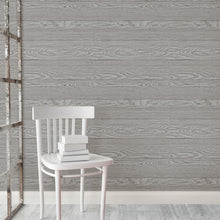 Load image into Gallery viewer, Grey Salvaged Wood Peel & Stick Wallpaper