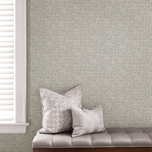 Load image into Gallery viewer, Grey Poplin Texture Peel & Stick Wallpaper