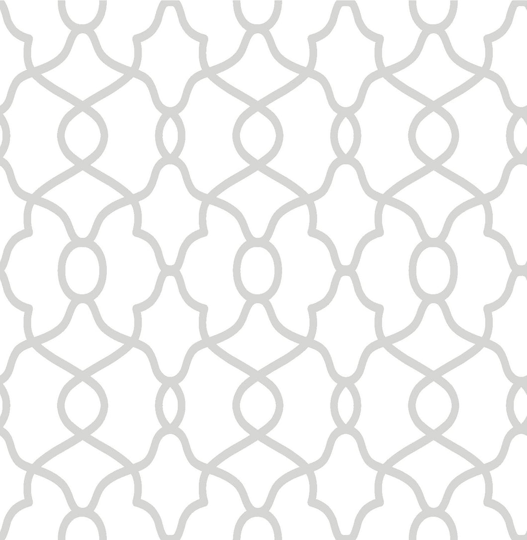 Silver Clearly Cool Peel & Stick Wallpaper