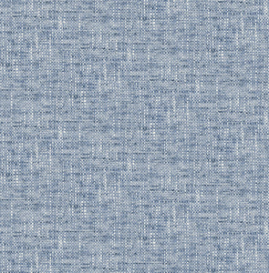 Navy Poplin Texture Peel & Stick Wallpaper