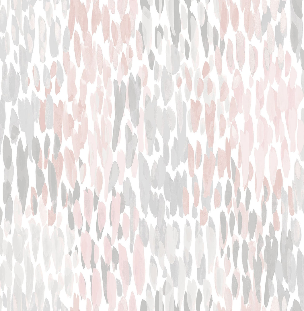 Blush Make It Rain Peel & Stick Wallpaper