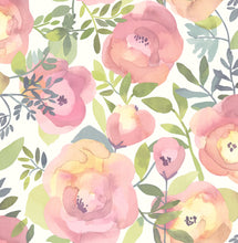 Load image into Gallery viewer, Peachy Keen Pink Peel & Stick Wallpaper