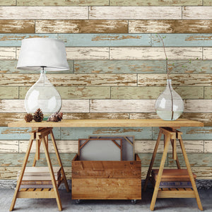 Old Salem Vintage Wood Peel & Stick Wallpaper