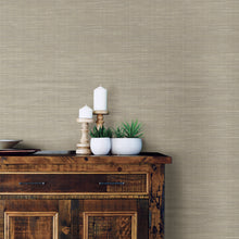 Load image into Gallery viewer, Wheat Grasscloth Peel & Stick Wallpaper