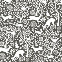 Load image into Gallery viewer, Charcoal Merriment Peel & Stick Wallpaper