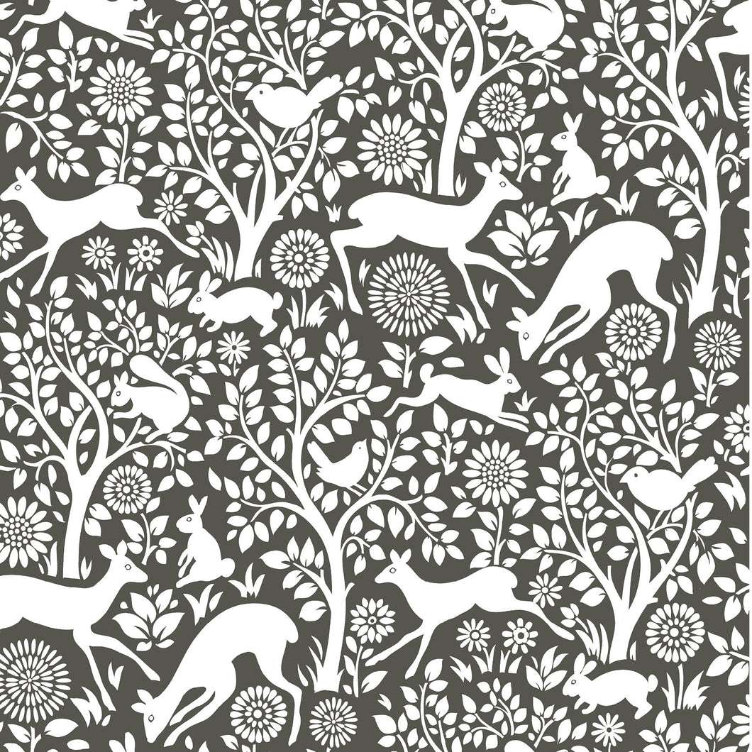 Charcoal Merriment Peel & Stick Wallpaper