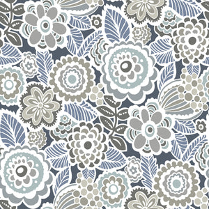 Dream On Navy Peel & Stick Wallpaper