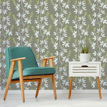 Load image into Gallery viewer, Taupe & Lime Fairfield Peel & Stick Wallpaper