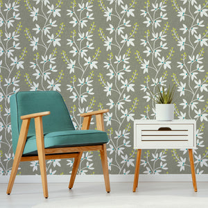 Taupe & Lime Fairfield Peel & Stick Wallpaper