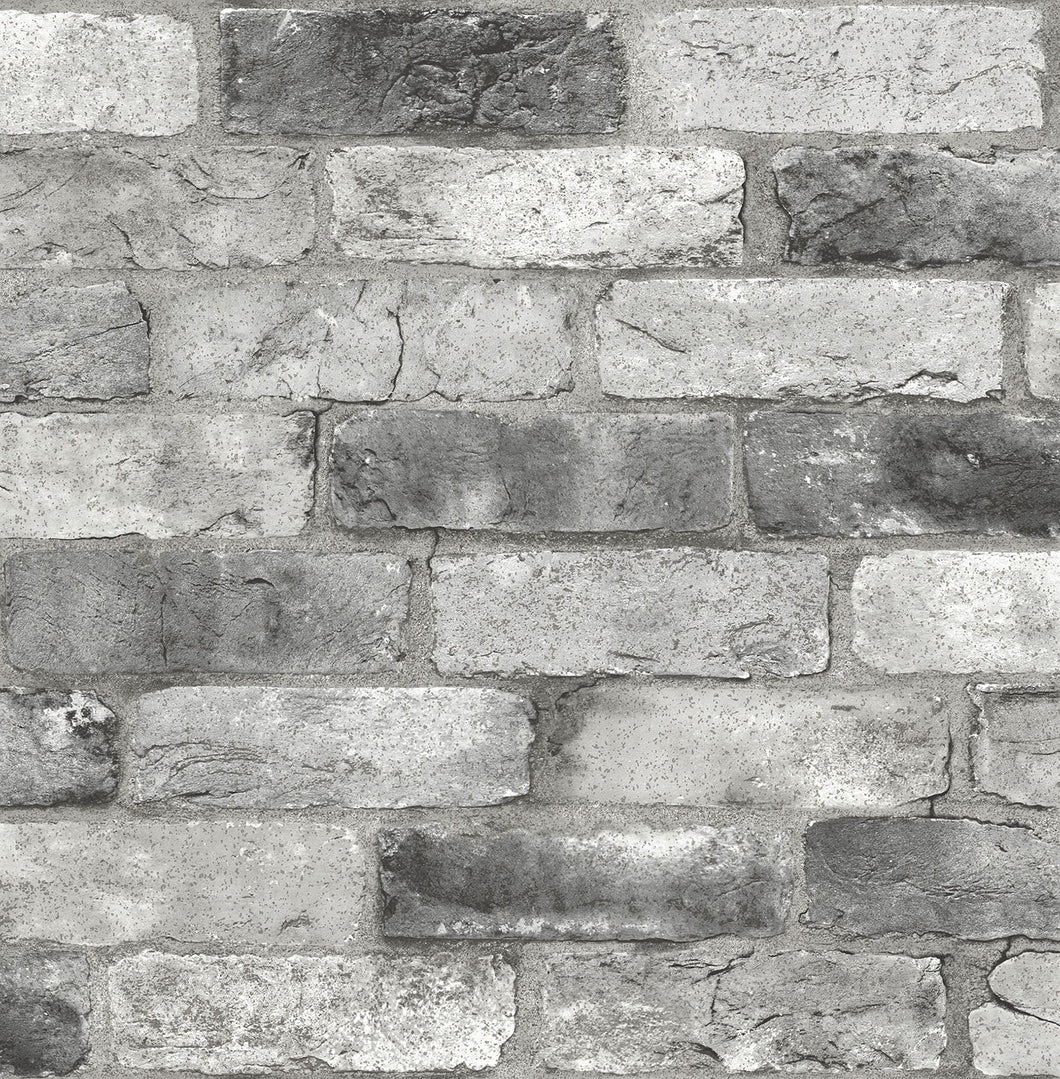 Grey London Brick Peel & Stick Wallpaper