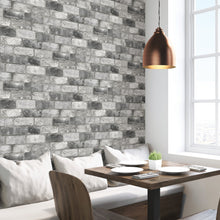 Load image into Gallery viewer, Grey London Brick Peel & Stick Wallpaper