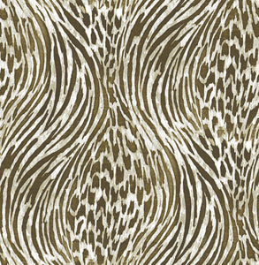 Brown & Gold Fierce Peel & Stick Wallpaper