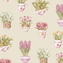 Load image into Gallery viewer, wallpaper, wallpapers, novelty, floral, flowers, leaves, tea cups, cups