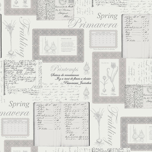 wallpaper, wallpapers, novelty, script, words, botanical, leaves, bulbs, borders, floral