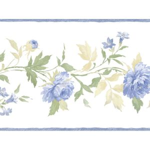 PP79451 Blue and green floral border