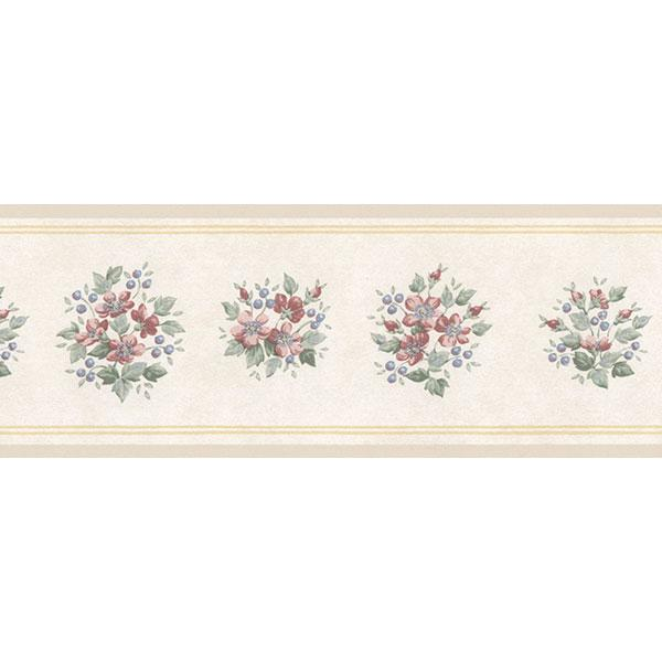 wallpaper, wallpapers, border, floral, flowers, leaves, bouquet, small print, solid line edge