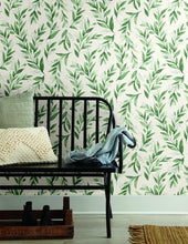 Load image into Gallery viewer, Magnolia Home Olive Branch Peel and Stick Wallpaper