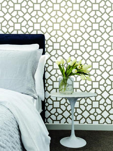 Hedgerow Trellis Peel and Stick Wallpaper