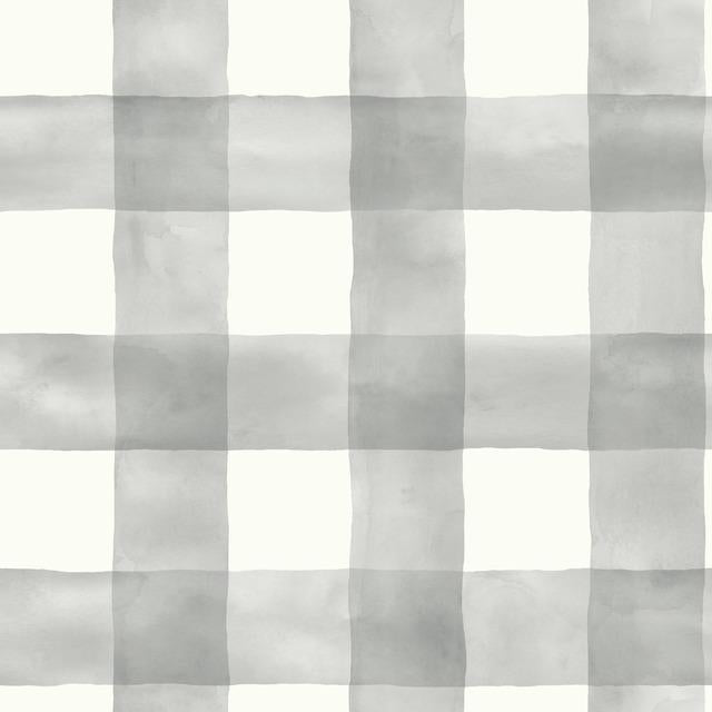 Checkmate Watercolor Plaid Peel and Stick Wallpaper
