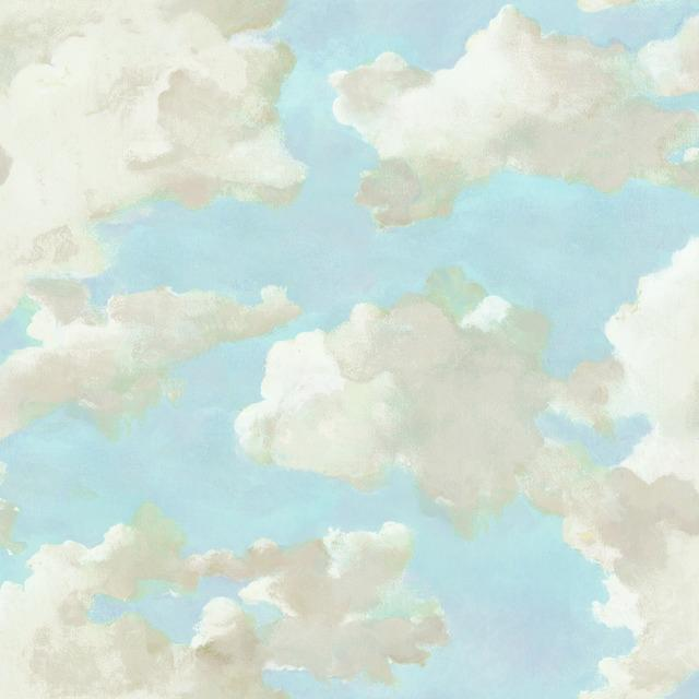 Clouds on Canvas Peel and Stick Wallpaper