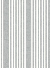 Load image into Gallery viewer, Pattern French Linen Stripe is a classic stripe with coastal color and an airy linen weave texture.
