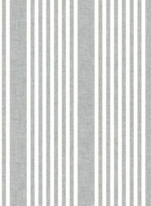 Pattern French Linen Stripe is a classic stripe with coastal color and an airy linen weave texture.