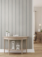 Load image into Gallery viewer, French Linen Stripe Peel and Stick Wallpaper