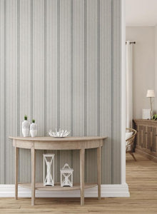 French Linen Stripe Peel and Stick Wallpaper