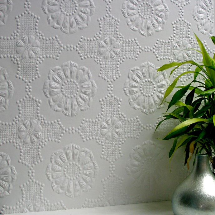 Anaglypta paintable wallpaper