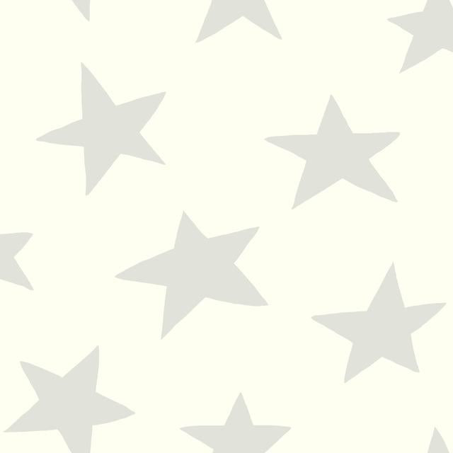 STAR- GREY PEEL & STICK WALLPAPER