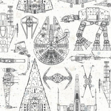Load image into Gallery viewer, STAR WARS BLUEPRINT PEEL & STICK WALLPAPER