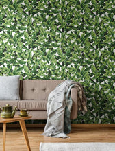 Load image into Gallery viewer, PALM LEAF PEEL & STICK WALLPAPER