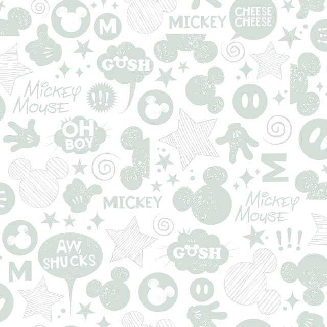 MICKEY MOUSE ICONS PEEL & STICK WALLPAPER